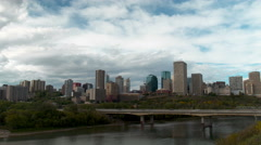 4K Time lapse of Capital city Edmonton, Alberta skyline 4K Stock Footage