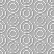 Circles of seamless background. Abstract seamless pattern retro style - stock illustration