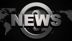 Broadcast News Title Animation, black Stock Footage