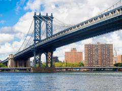 The Manhattan Bridge in New York Stock Photos