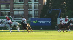 Buenos Aires Polo Field Playing 03 Stock Footage
