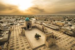 Panorama of Bukhara, Uzbekistan - stock photo