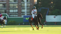 Buenos Aires Polo Field Playing 05 - Slow Motion Stock Footage