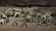 Stock Video Footage of Souvenir shop of ceramics. 4K