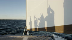 Outdoor Sailing Lifestyle Luxury Yacht Happy Summer Vacation Simple Shapes Games - stock footage