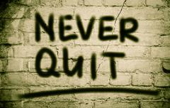 Never Quit Concept Stock Illustration