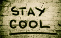 Stock Illustration of Stay Cool Concept