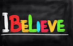 Stock Illustration of I Believe Concept