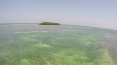 Lens Distortion Island View Stock Footage