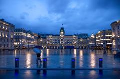 Trieste, Piazza Unità di Italia Stock Photos