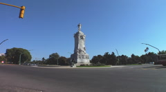 Buenos Aires Traffic Time Lapse - Monument to the Spaniards Stock Footage