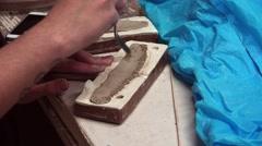 Handmade clay modeling. 4K Stock Footage