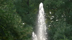 The beautiful fountain from Planty Park, Krakow Stock Footage