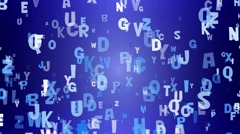 Letters on blue background Stock Footage