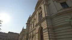 View of the Juliusz Słowacki Theatre in Krakow Stock Footage