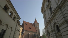 The Holy Cross Church in Krakow Stock Footage