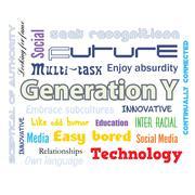 Generation Y infographics Stock Illustration