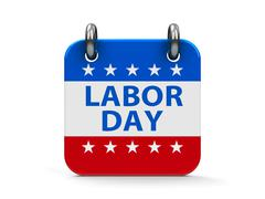 Labor day icon calendar - stock photo