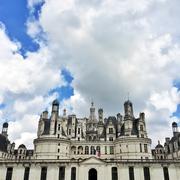 Majestic Chambord castle in France - stock photo