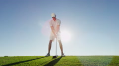 Outdoor Recreation Lifestyle Activity Professional Golf Playing Male Caucasian - stock footage