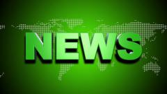 Broadcast News Title Animation, green Stock Footage