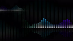 Animated waveforms and music VU meters. Seamless loop-able 4K Stock Footage