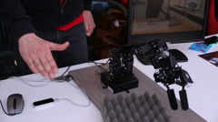 Robotic hand in action - stock footage