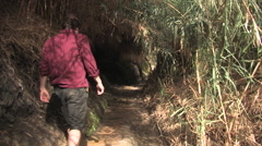 Hiking Ein Gedi, Israel - stock footage