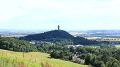 Wallace monument Stirling city Stock Footage