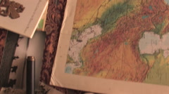 Stock Video Footage of Biblical Geography Tools In Jerusalem