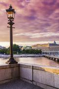 View of Stockholm at dusk, Sweden Stock Photos
