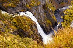 Waterfall, Norway - Eidfjord Voringfossen Stock Photos