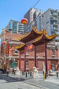 Melbourne Chinatown archway - stock photo