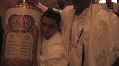 Jewish People Worship at the Western Wall Stock Footage
