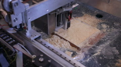 Machinery for wood carving Stock Footage