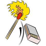 Matchstick Lights by Striking Matchbox - stock illustration