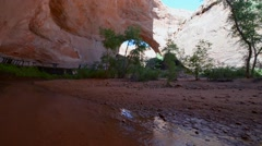 Jacob Hamblin Arch Slow Pan Right - stock footage