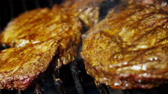 Fresh Organic Flame Grilled Steak Healthy Dining Choice Barbecue Flavor - stock footage