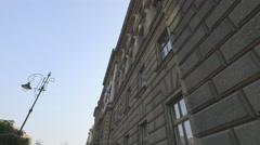 Polish National Bank building in Krakow Stock Footage