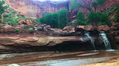 Coyote Gulch Lower Waterfall Stock Footage