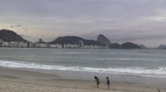 Kids on Copa Beach Playing Stock Footage