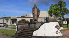Pope Sculpture on the Island of Guam - stock footage