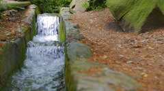 Handmade Creek. Park in the Vorontsov Palace. Alupka Crimea, summer 2015. Stock Footage