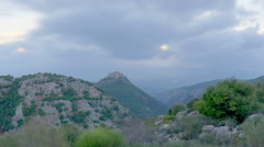 Dusk time-lapse of the hills near Nimrod, Israel. Cropped. Stock Footage