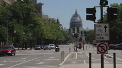 Capitol Building | Pennsylvania Ave | Washington DC 2015 Stock Footage