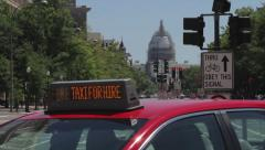 Capitol View | Pennsylvania Ave | Washington DC | Taxi & traffic Stock Footage
