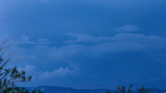 4K UHD blue gray dusk monsoon storm skies over mountains time lapse - stock footage