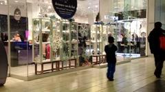 Shopper inside Coquitlam Center shopping mall - stock footage