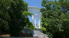 Rotunda on the embankment in Sevastopol. Crimea. Summer 2015. - stock footage