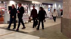 Shopper inside lougheed mall Stock Footage